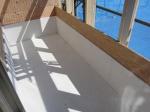 志水木材の新築(建替え)工事現場 ベランダ工事