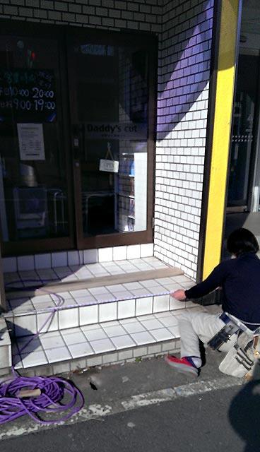 店舗入り口リフォーム例②