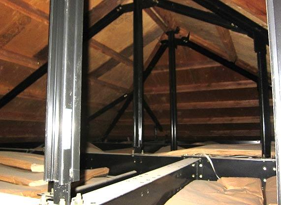 屋根裏収納リフォーム施工①
