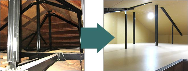 屋根裏空間の活用リフォーム
