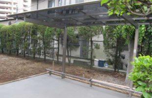 駐輪場テラス設置工事