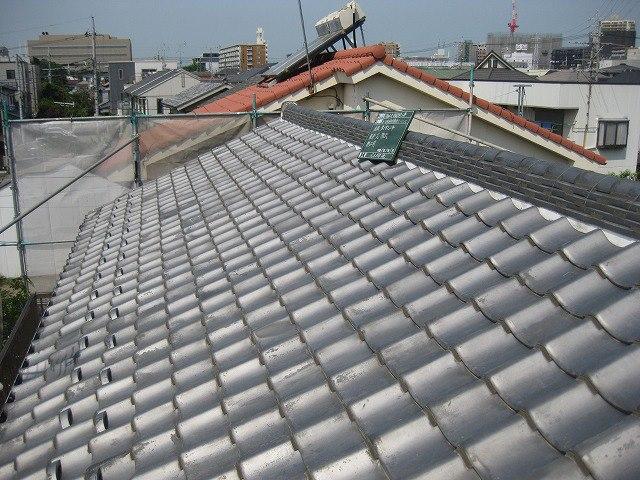 耐震工事例「工事前の瓦屋根」