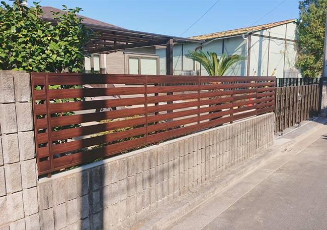 完成したフェンス