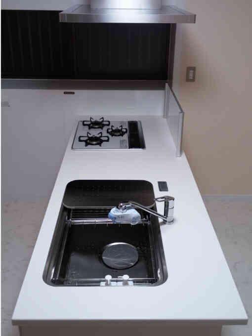 施工後完成したキッチン④