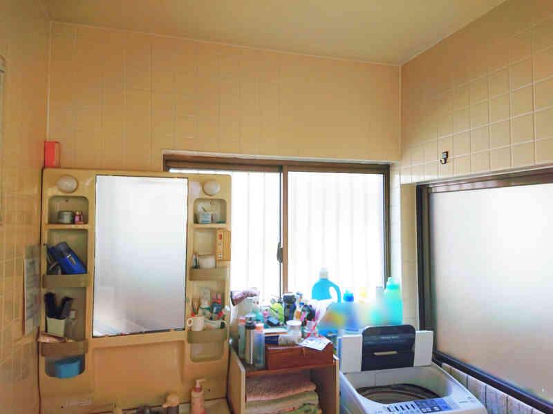 施工前の洗面脱衣室