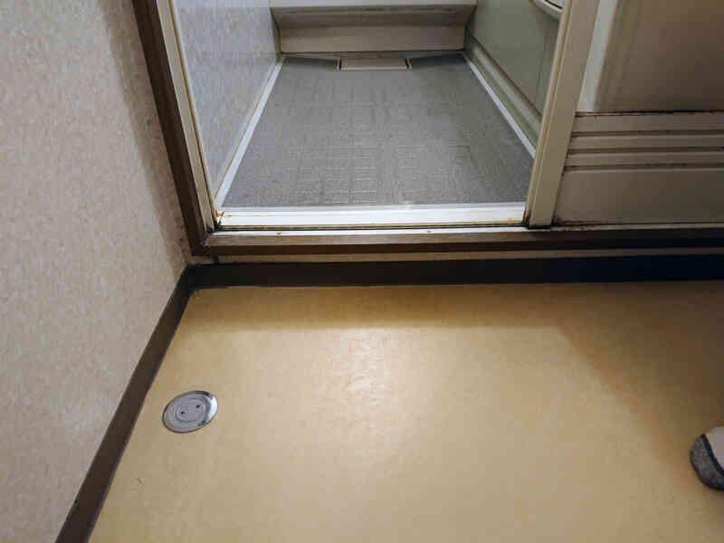 施工前浴室の段差