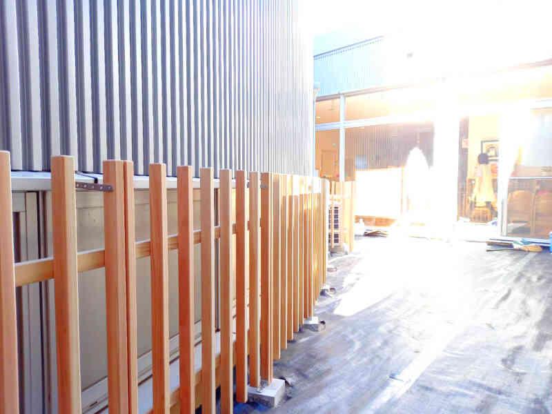 完成した木柵