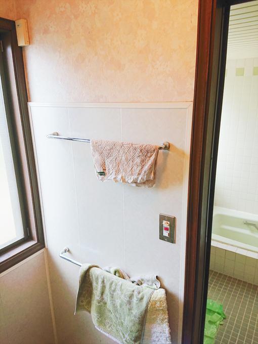 施工前 洗面脱衣室壁